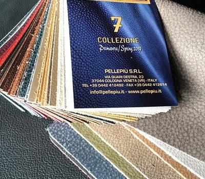 Pellepiù offre, a prezzi di stock, le pelli per arredamento dei grandi marchi della concia del distretto di Arzignano
